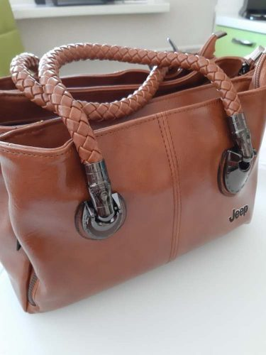 Triple Zipper Leather Hand Bag photo review