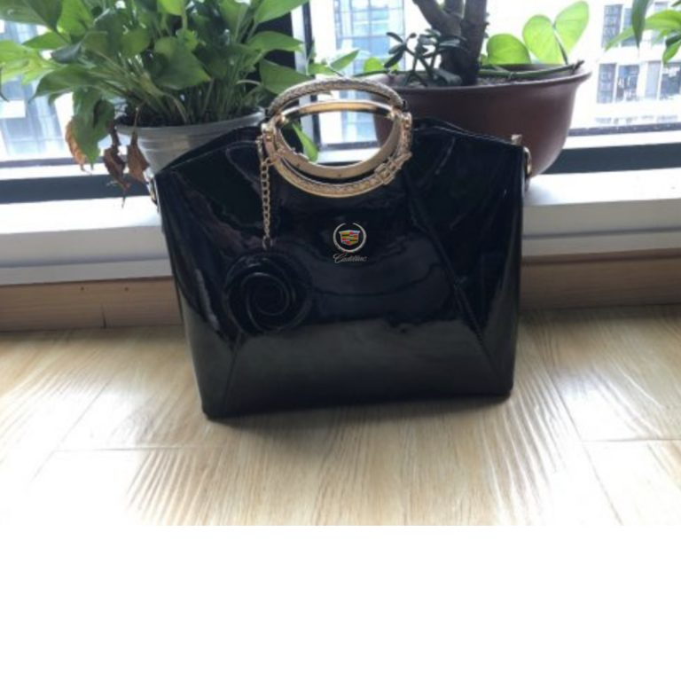 CDL Bright Lacquered Platinum Leather Bag photo review